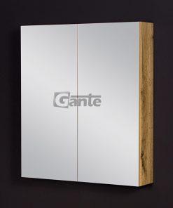 Oak bathroom cabinet with mirror