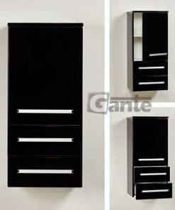 bathroom storage unit black