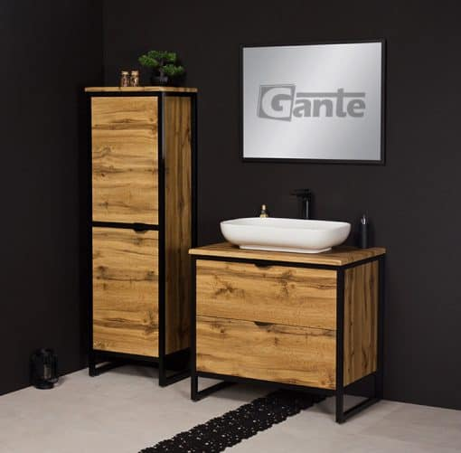 Vanity unit in oak