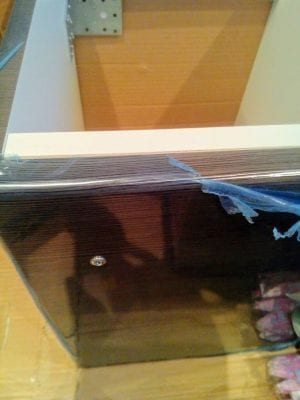 protective foil on a piece of furniture